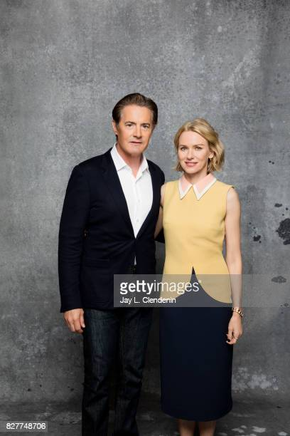Actor Kyle MacLachlan and actress Naomi Watts from the television series 'Twin Peaks' are photographed in the LA Times photo studio at ComicCon 2017...