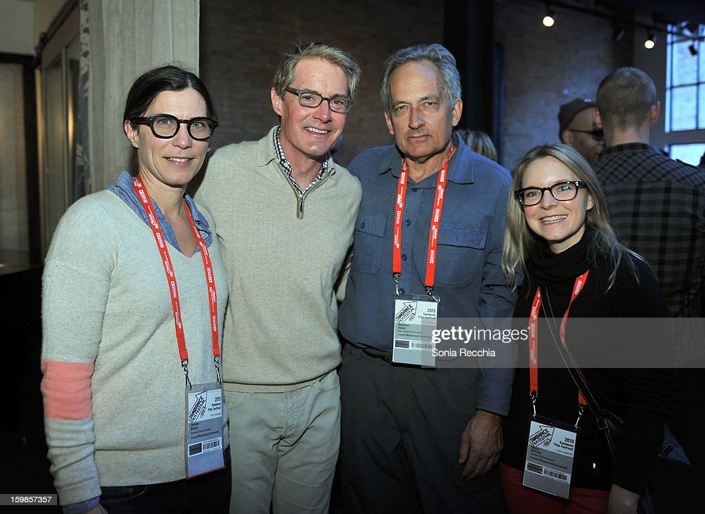 Actor Kyle MacLachlan (2nd L) and Dean, School of Film and Television, Loyola Marymount University Stephen Ujlaki (2nd R) attend the Film Independent Sundance Reception at Riverhorse Cafe during the 2013 Sundance Film Festival on January 21, 2013 in Park City, Utah.
