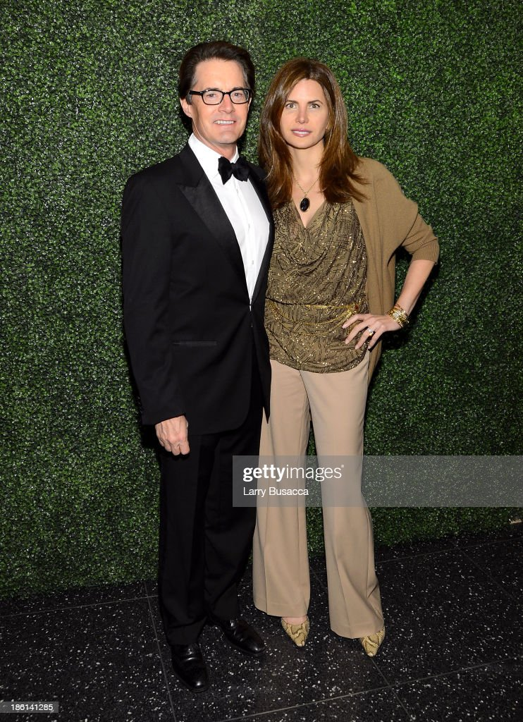 Actor Kyle MacLachlan and Desiree Gruber arrive as Ralph Lauren Presents Exclusive Screening Of Hitchcock's To Catch A Thief Celebrating The Princess Grace Foundation at MoMA on October 28, 2013 in New York City.