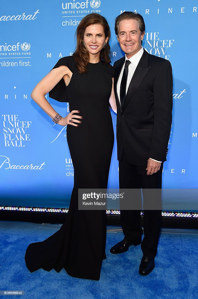 Actor Kyle MacLachlan and Desiree Gruber attend the 12th annual UNICEF Snowflake Ball at Cipriani Wall Street on November 29, 2016 in New York City.