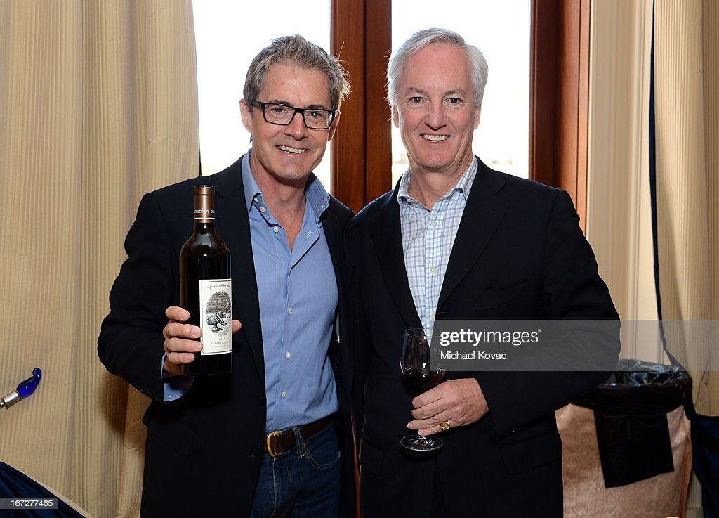 Actor <a gi-track='captionPersonalityLinkClicked' href=/galleries/search?phrase=Kyle+MacLachlan&family=editorial&specificpeople=213038 ng-click='$event.stopPropagation()'>Kyle MacLachlan</a> and Ed Kelly, President & CEO, American Express Publishing, attend The American Express Publishing Luxury Summit 2013 at St. Regis Monarch Beach Resort on April 23, 2013 in Dana Point, California.