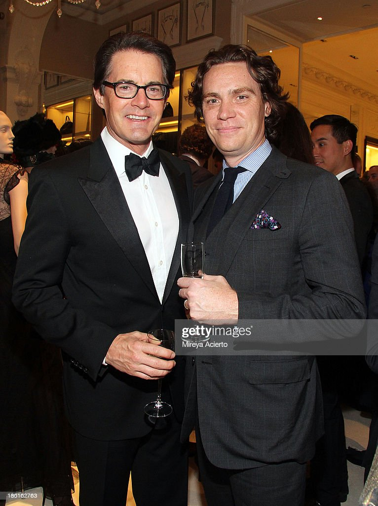 Actor Kyle MacLachlan and editor Jay Fielden attend Ralph Lauren Presents Exclusive Screening Of Hitchcock's To Catch A Thief Celebrating The Princess Grace Foundation at Ralph Lauren Women's Store on October 28, 2013 in New York City.