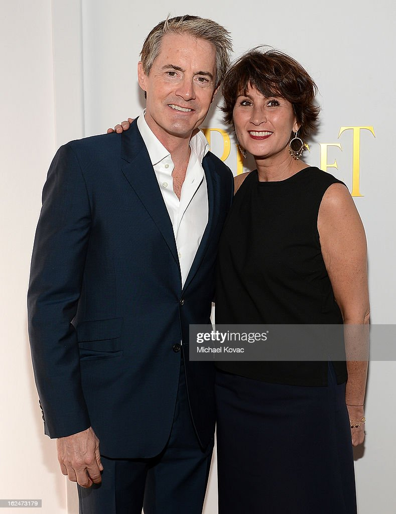 Actor Kyle MacLachlan and PR Manager of Piaget Natacha Hertz pose in the Piaget Lounge during The 2013 Film Independent Spirit Awards on February 23, 2013 in Santa Monica, California.