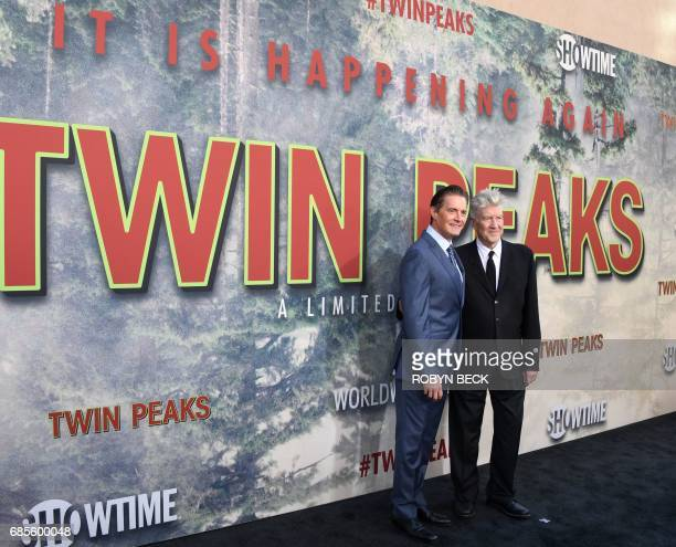 Actor Kyle MacLachlan and show creator David Lynch attend the world premiere of the Showtime limitedevent series 'Twin Peaks' on May 19 2017 at the...