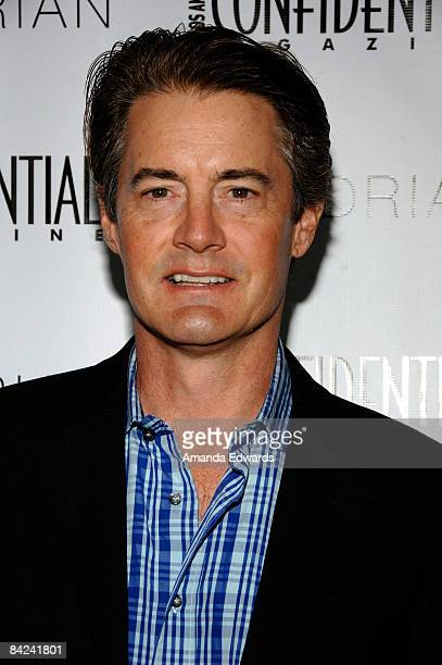 Actor Kyle MacLachlan arrives at the Los Angeles Confidential Magazine PreGolden Globes Event at Skybar at Mondrian on January 10 2009 in Los Angeles...