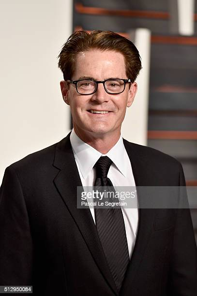 Actor Kyle MacLachlan attends the 2016 Vanity Fair Oscar Party Hosted By Graydon Carter at the Wallis Annenberg Center for the Performing Arts on...