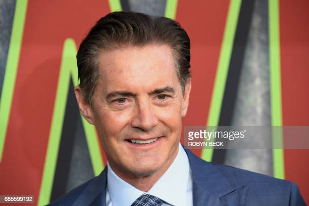 Actor Kyle MacLachlan attends the world premiere of the Showtime limitedevent series 'Twin Peaks' on May 19 2017 at the Ace Hotel in Los Angeles...