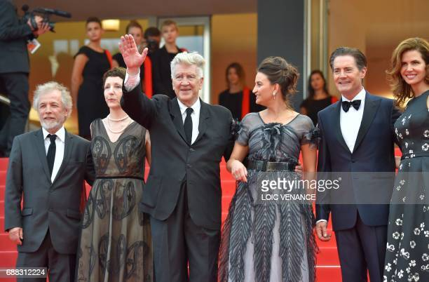 US actor Kyle MacLachlan his wife US producer Desiree Gruber US executive producer Sabrina Sutherland US director David Lynch and his wife Emily...