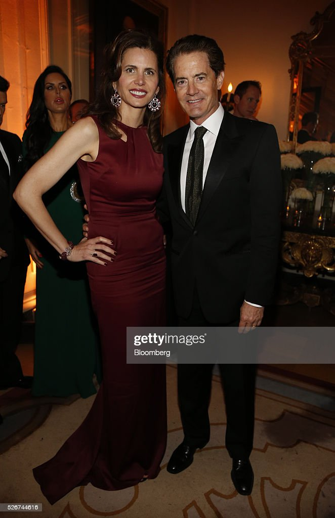 Actor Kyle MacLachlan, right, and Desiree Gruber attends the Bloomberg Vanity Fair White House Correspondents' Association (WHCA) dinner afterparty in Washington, D.C., U.S., on Saturday, April 30, 2016. The 102nd WHCA raises money for scholarships and honors the recipients of the organization's journalism awards. Photographer: Andrew Harrer/Bloomberg via Getty Images