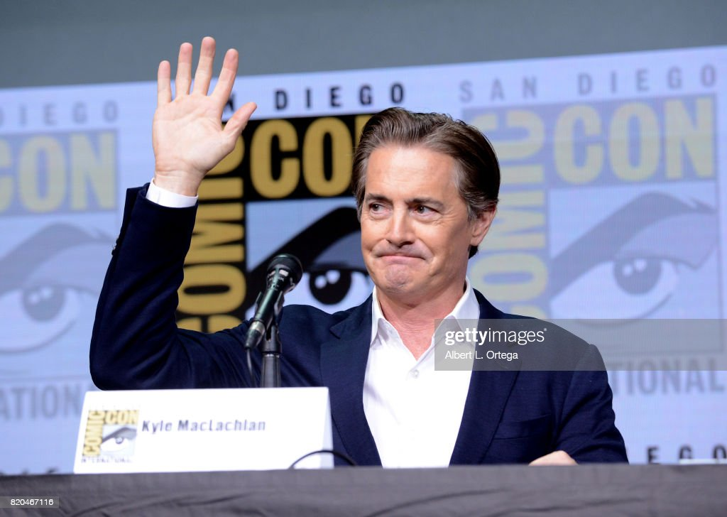 Actor Kyle MacLachlan speaks onstage at Comic-Con International 2017 Twin Peaks: A Damn Good Panel at San Diego Convention Center on July 21, 2017 in San Diego, California.