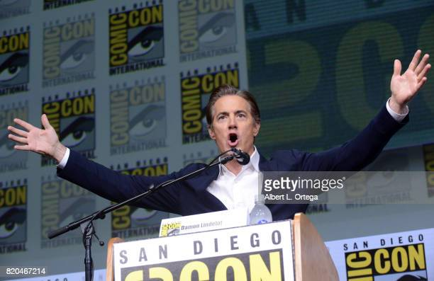 Actor Kyle MacLachlan speaks onstage at ComicCon International 2017 'Twin Peaks A Damn Good Panel' at San Diego Convention Center on July 21 2017 in...
