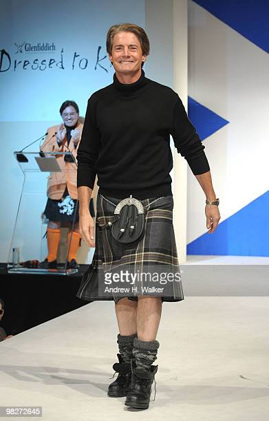 Actor Kyle MacLachlan walks the runway at the 8th annual 'Dressed To Kilt' Charity Fashion Show presented by Glenfiddich at M2 Ultra Lounge on April...