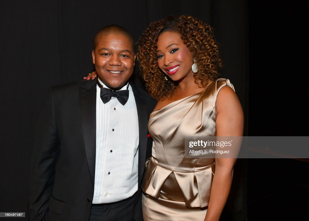 Actor Kyle Massey (L) and TV Personality Tanika Ray attend the 44th NAACP Image Awards at The Shrine Auditorium on February 1, 2013 in Los Angeles, California.