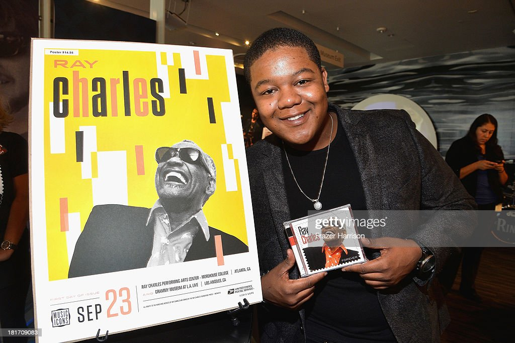 Actor Kyle Massey attends the unveiling of the new Ray Charles stamp at the GRAMMY Museum in Los Angeles Calif on Monday September 23 2013 The...