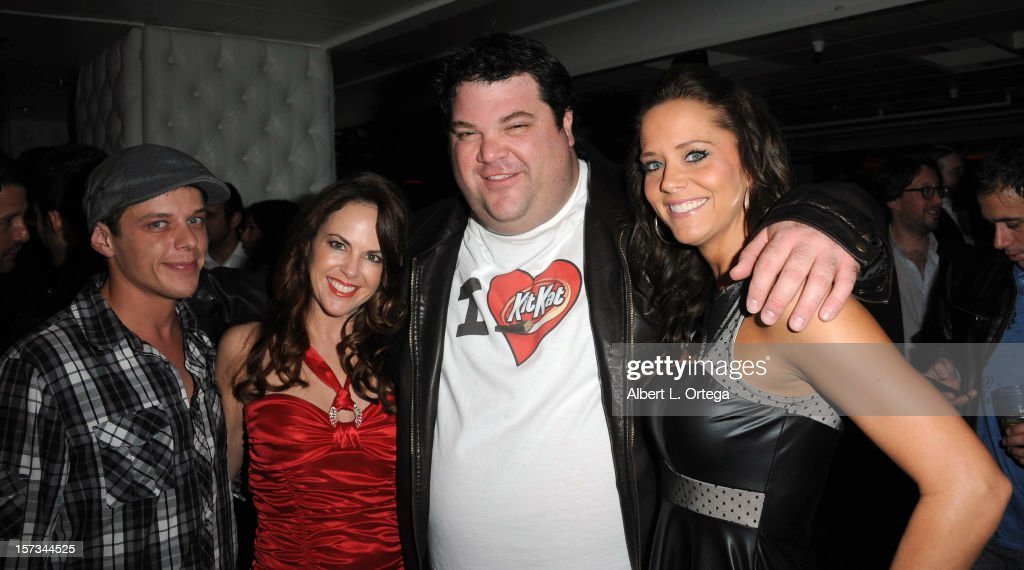 Actor Kyle Morris, actress Lisa Cash, actor Robbie Kaller and actress Courtney Moore arrive for the 5th Annual Babes In Toyland Charity Toy Drive to benefit Los Angeles County Sheriff's Department Toy Drive held at Confidential on December 1, 2012 in Beverly Hills, California.