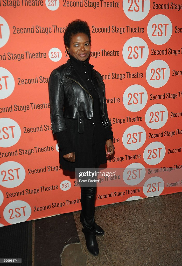 Actor LaChanze attends 'Dear Evan Hansen' Off-Broadway opening celebration at Second Stage Theatre on May 1, 2016 in New York City.
