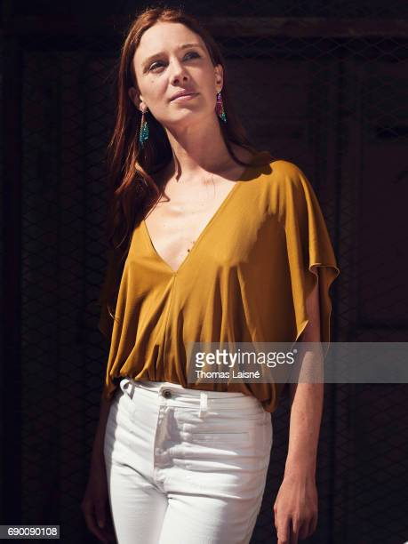 Actor Laetitia Dosch is photographed on May 23 2017 in Cannes at Majestic Beach France