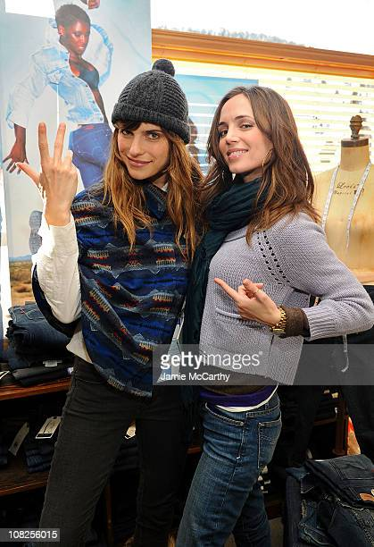 Actor Lake Bell and Eliza Dushku attend Levi's AE Showroom in Park City on January 22 2011 in Park City Utah