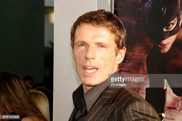 Actor Lambert Wilson arrives for the premiere of his latest film Catwoman held at the Cinerama Dome Theatre Los Angeles USA