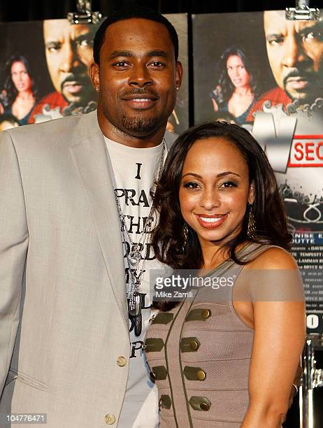 Actor Lamman Rucker and actress Caryn Ward attend the premiere screening of 'NSecure' at Atlantic Station on September 30 2010 in Atlanta Georgia