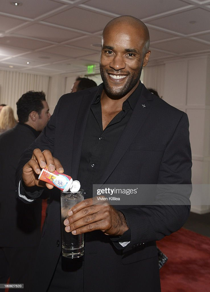 Actor LaMonica Garrett attends the Entertainment Tonight And Crystal Light Pre-Emmy Party at SLS Hotel on September 17, 2013 in Beverly Hills, California.