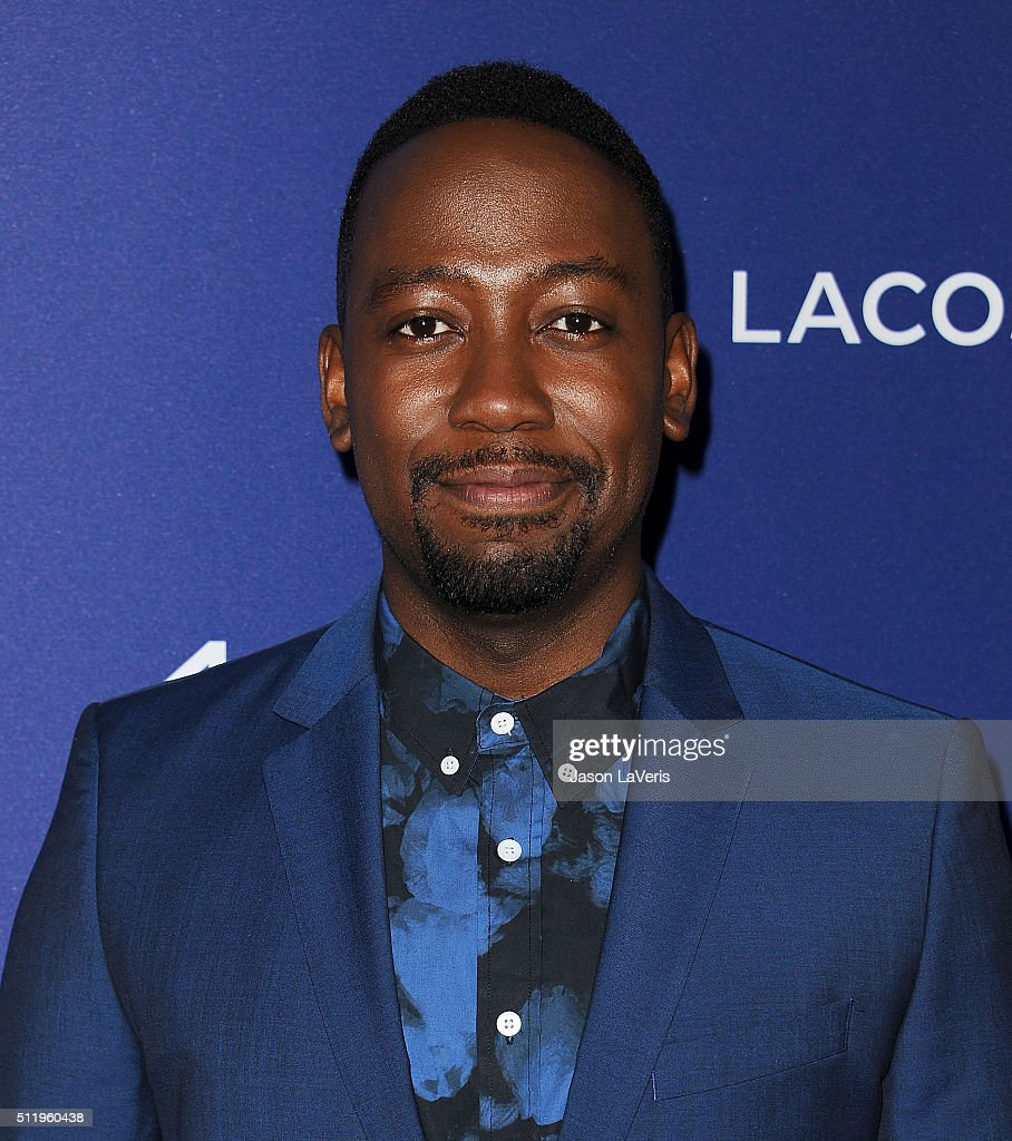 Actor Lamorne Morris attends the 18th Costume Designers Guild Awards at The Beverly Hilton Hotel on February 23 2016 in Beverly Hills California