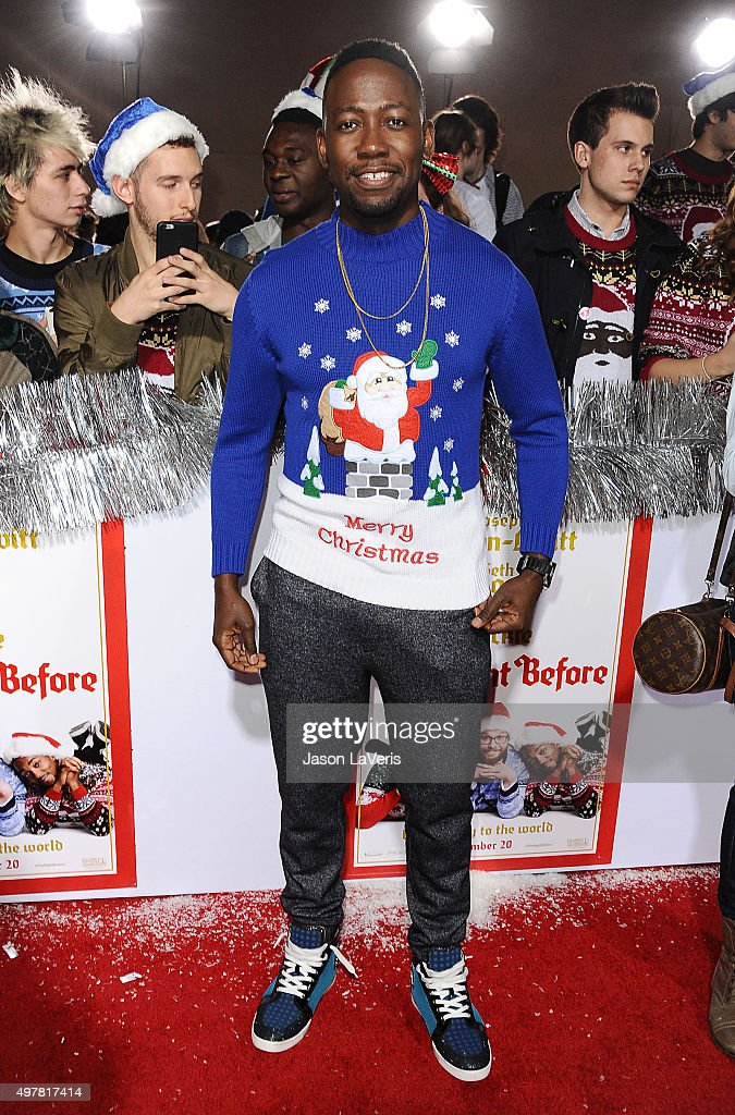Actor Lamorne Morris attends the premiere of 'The Night Before' at The Theatre At The Ace Hotel on November 18 2015 in Los Angeles California