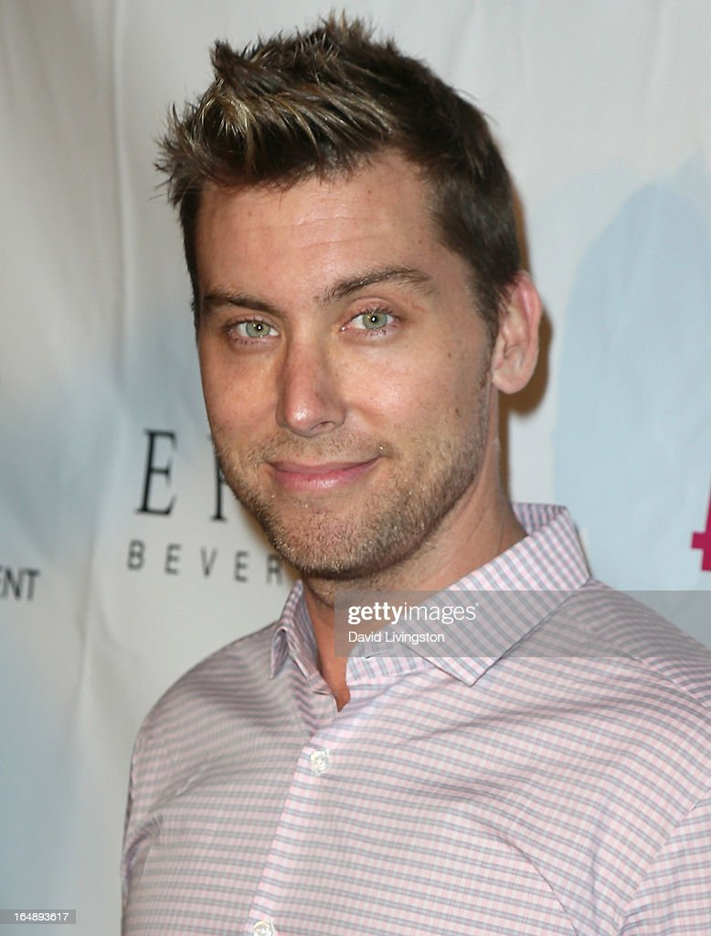 Actor <a gi-track='captionPersonalityLinkClicked' href=/galleries/search?phrase=Lance+Bass&family=editorial&specificpeople=210566 ng-click='$event.stopPropagation()'>Lance Bass</a> attends the 'Pieces (of Ass)' opening night Los Angeles performance at The Fonda Theatre on March 28, 2013 in Los Angeles, California.