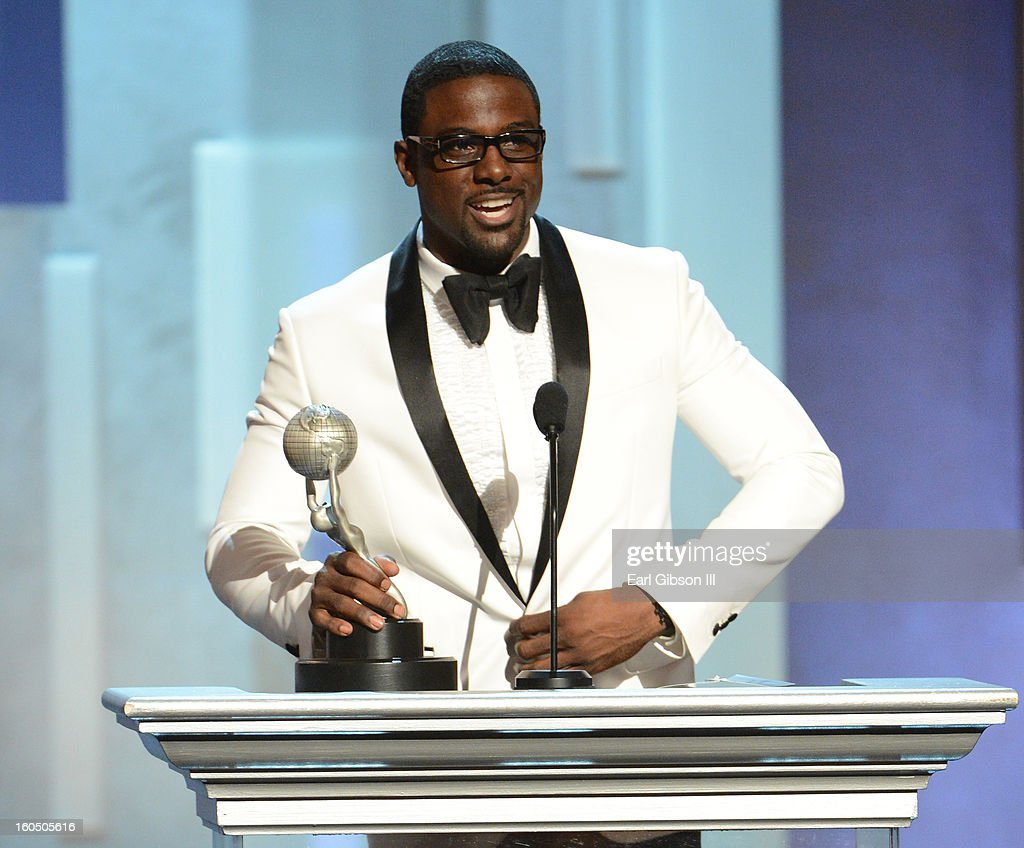 Actor Lance Gross accepts Outstanding Supporting Actor in a Comedy Series for 'Tyler Perry's House of Payne' onstage during the 44th NAACP Image Awards at The Shrine Auditorium on February 1, 2013 in Los Angeles, California.