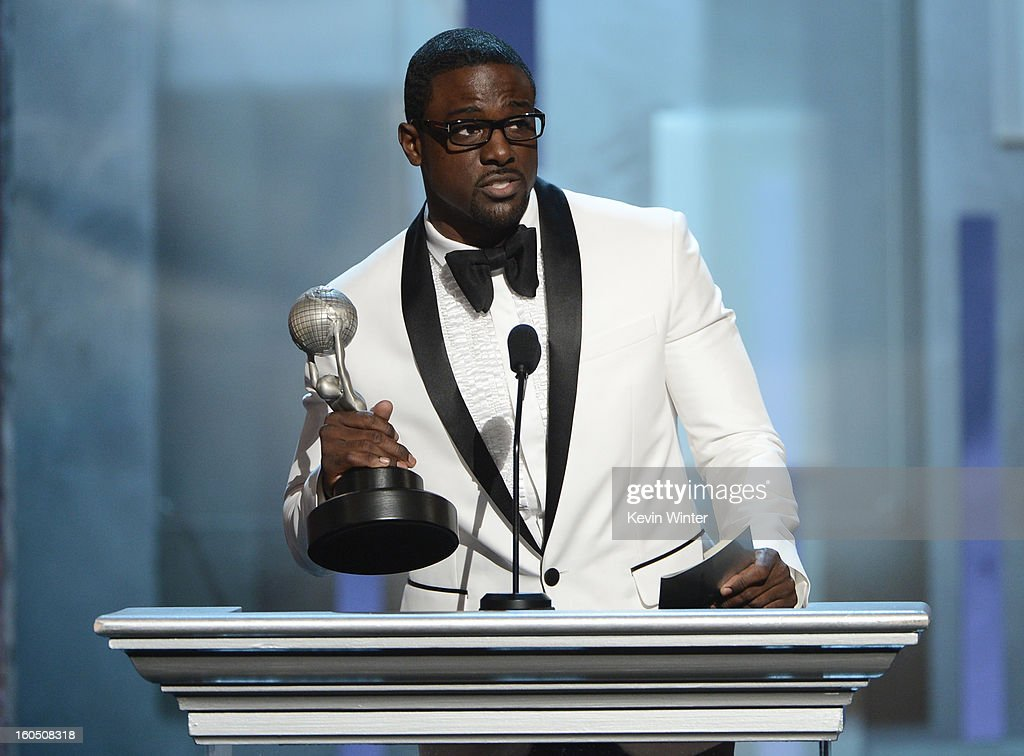 Actor Lance Gross accepts Outstanding Supporting Actor in a Comedy Series award for 'Tyler Perry's House of Payne' onstage during the 44th NAACP Image Awards at The Shrine Auditorium on February 1, 2013 in Los Angeles, California.