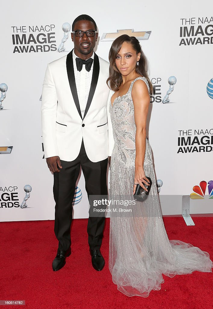 Actor Lance Gross (L) and guest attend the 44th NAACP Image Awards at The Shrine Auditorium on February 1, 2013 in Los Angeles, California.