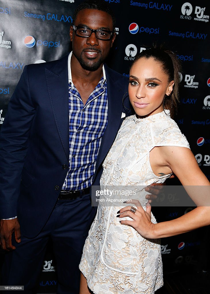 Actor <a gi-track='captionPersonalityLinkClicked' href=/galleries/search?phrase=Lance+Gross&family=editorial&specificpeople=4083742 ng-click='$event.stopPropagation()'>Lance Gross</a> (L) and Rebecca Jefferson attend the Island Def Jam Grammy Party sponsored by Samsung and Pepsi at Osteria Mozza on February 10, 2013 in Los Angeles, California.