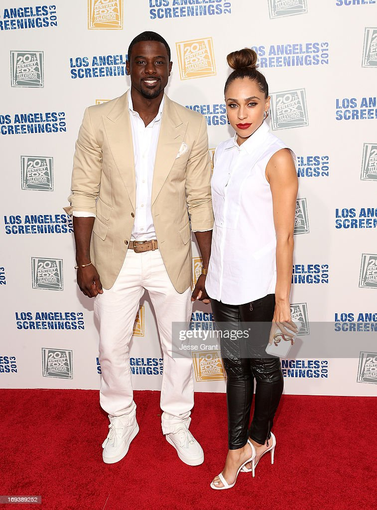 Actor <a gi-track='captionPersonalityLinkClicked' href=/galleries/search?phrase=Lance+Gross&family=editorial&specificpeople=4083742 ng-click='$event.stopPropagation()'>Lance Gross</a> (L) and Rebecca Jefferson attend the Twentieth Century Fox Television Distribution's 2013 LA Screenings Lot Party at Twentieth Century Fox Studio Lot on May 23, 2013 in Los Angeles, California.