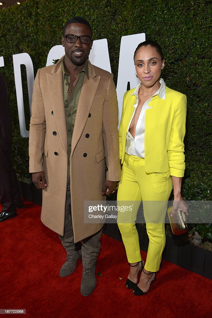 Actor <a gi-track='captionPersonalityLinkClicked' href=/galleries/search?phrase=Lance+Gross&family=editorial&specificpeople=4083742 ng-click='$event.stopPropagation()'>Lance Gross</a> (L) and Rebecca Jefferson attend 'The Weinstein Company Presents The LA Premiere Of 'Mandela: Long Walk To Freedom' Supported By Burberry' at ArcLight Hollywood Cinerama Dome on November 11, 2013 in Los Angeles, California.