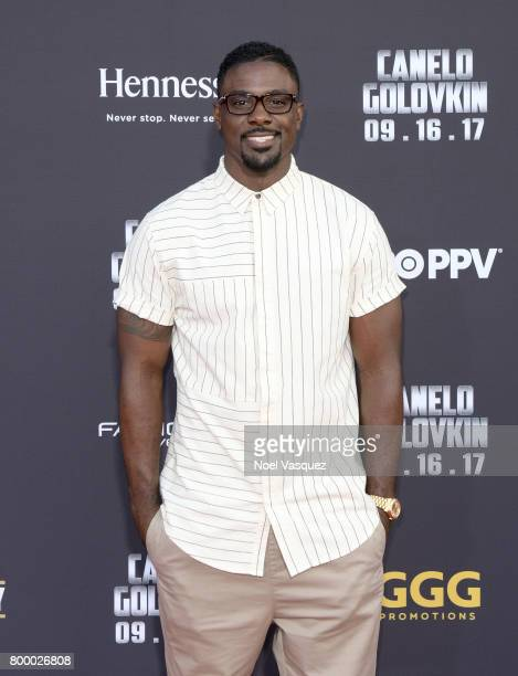 """Actor Lance Gross attends the Canelo Alvarez and Gennady """"GGG"""" Golovkin press tour presented by Hennessy at AVALON Hollywood on June 22 2017 in Los..."""