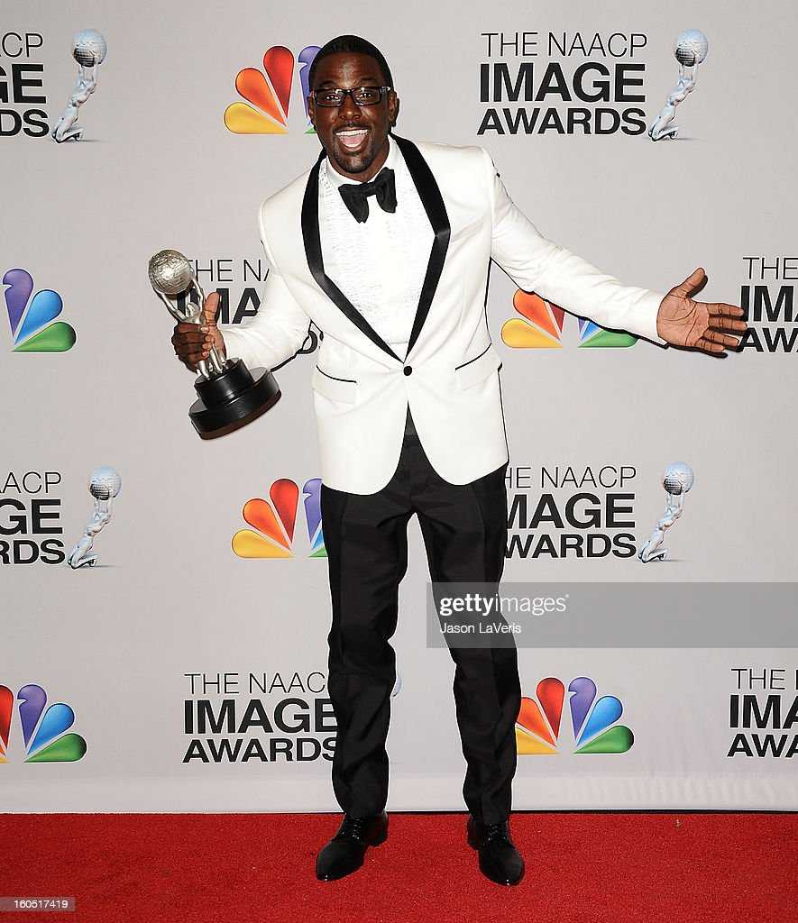 Actor Lance Gross poses in the press room at the 44th NAACP Image Awards at The Shrine Auditorium on February 1, 2013 in Los Angeles, California.