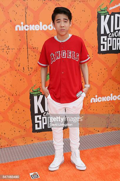 Actor Lance Lim arrives at the Nickelodeon Kids' Choice Sports Awards 2016 at the UCLA's Pauley Pavilion on July 14 2016 in Westwood California