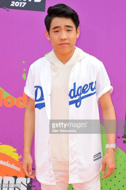 Actor Lance Lim attends Nickelodeon Kids' Choice Sports Awards 2017 at Pauley Pavilion on July 13 2017 in Los Angeles California