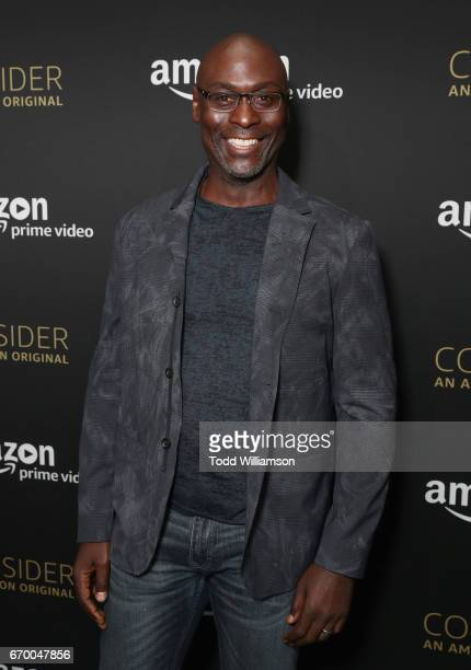 Actor Lance Reddick attends the Amazon Original Series 'Bosch' Emmy FYC screening and panel at the Hollywood Athletic Club on April 18 2017 in...