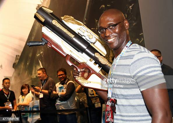 Actor Lance Reddick attends the Destiny booth at the E3 convention at the Los Angeles Convention Center on June 16 2015 in Los Angeles California