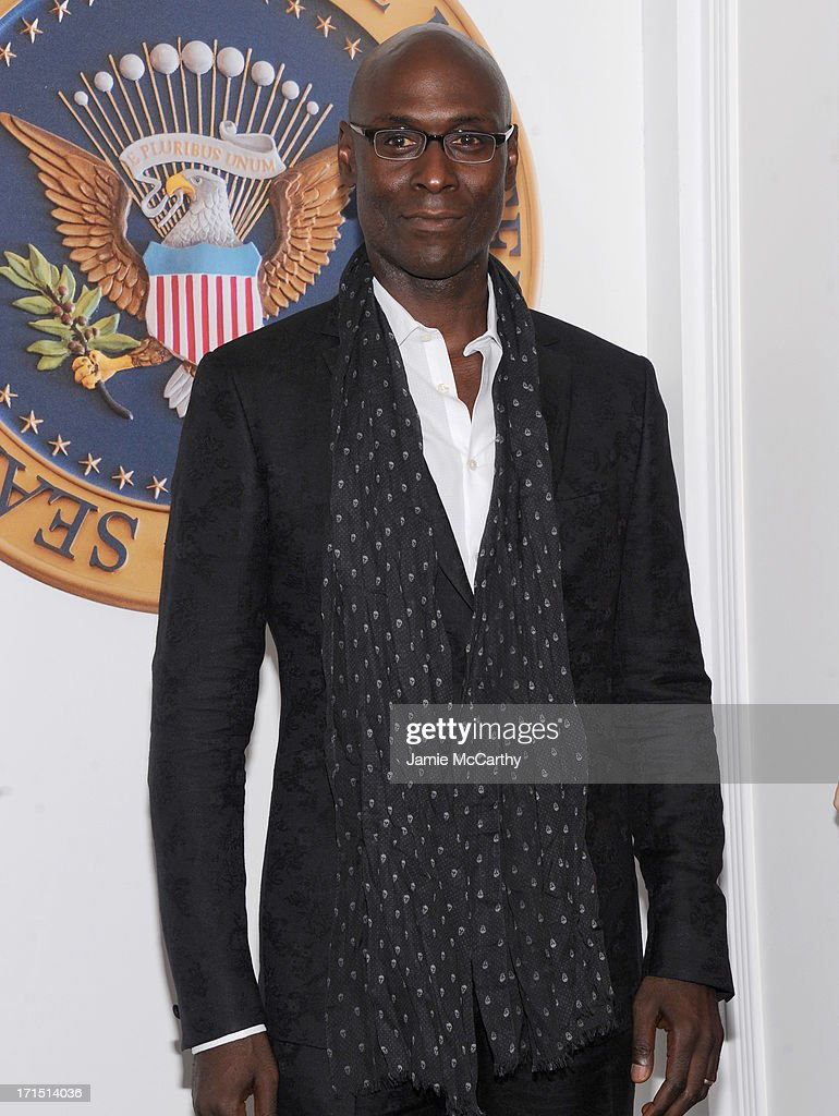 Actor Lance Reddick attends 'White House Down' New York Premiere at Ziegfeld Theater on June 25, 2013 in New York City.