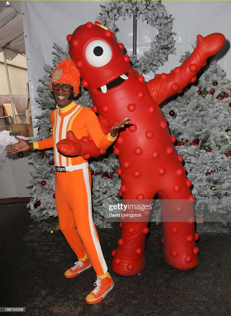 Actor Lance Robertson aka DJ Lance Rock attends the Los Angeles Mission's Christmas Eve for the homeless at the Los Angeles Mission on December 24, 2012 in Los Angeles, California.