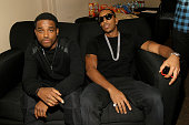 Actor Larenz Tate and rapper Ludacris attend the BET Hip Hop Awards Show 2015 at the Atlanta Civic Center on October 9 2015 in Atlanta Georgia