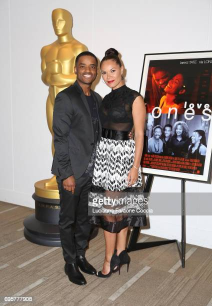 Actor Larenz Tate and Tomasina Parrott attend The Academy of Motion Picture Arts and Sciences' 20th anniversary celebration of 'Love Jones' at Samuel...