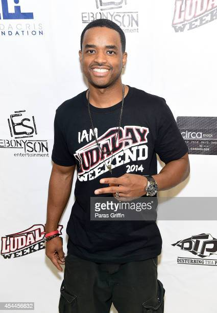Actor Larenz Tate attends the LudaDay Celebrity Basketball Game at Georgia State University Sports Arena on August 31 2014 in Atlanta Georgia