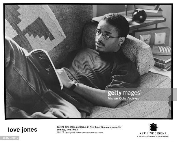 Actor Larenz Tate on set of the New Line Cinema movie ' Love Jones' circa 1997