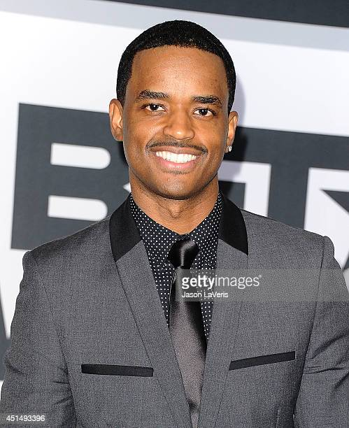 Actor Larenz Tate poses in the press room at the 2014 BET Awards at Nokia Plaza LA LIVE on June 29 2014 in Los Angeles California