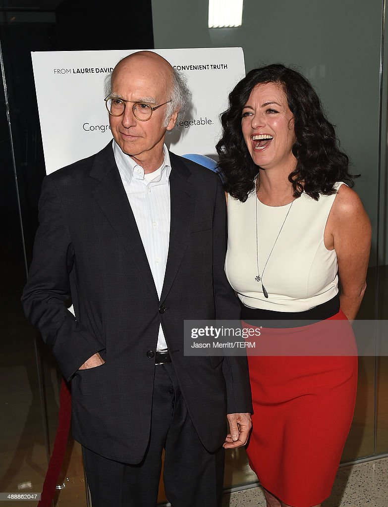 Actor <a gi-track='captionPersonalityLinkClicked' href=/galleries/search?phrase=Larry+David&family=editorial&specificpeople=125184 ng-click='$event.stopPropagation()'>Larry David</a> and wife Producer <a gi-track='captionPersonalityLinkClicked' href=/galleries/search?phrase=Laurie+David&family=editorial&specificpeople=556147 ng-click='$event.stopPropagation()'>Laurie David</a> attend the 'Fed Up' premiere held at the Pacfic Design Center on May 8, 2014 in West Hollywood, California.