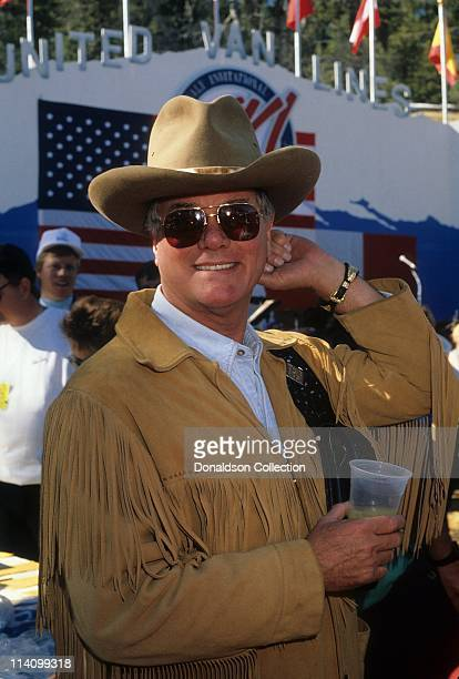 Actor Larry Hagman on set in 1988 in Los Angeles California