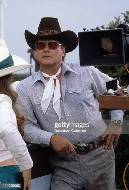 Actor Larry Hagman on set of Dallas in July 18 1979 in Los Angeles California